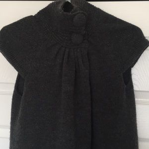 Wool poncho cape cover up